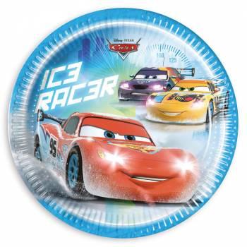 8 Assiettes Cars glace