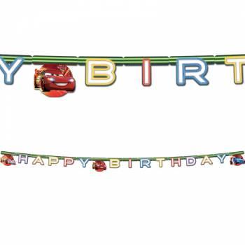 Guirlande happy birthday Cars néon