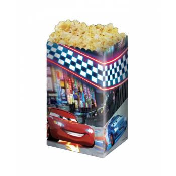 4 Boîtes Pop corn Cars néon