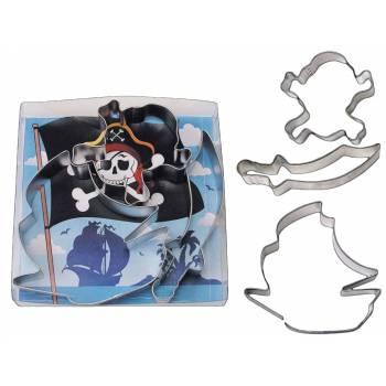 Kit 3 Emporte pièces Pirate