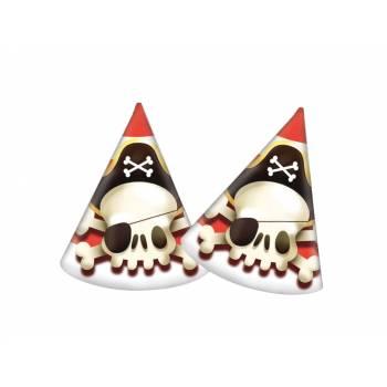 6 Chapeaux de fête Pirate powerful