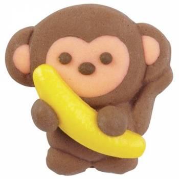 12 Décors en sucre singe