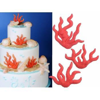 Lot 3 figurines Corail en sucre Mer