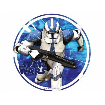 Disque azyme Star Wars Stormtrooper bleu