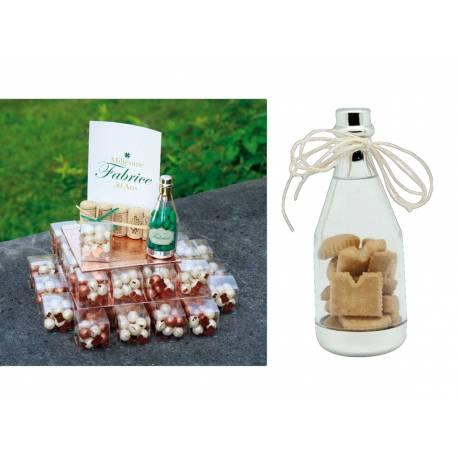 10 Bouteilles en plexi à garnir pour offrir à vos invités Idéal pour thème vin, champagne, alcool, océan pour représenter une bouteille...