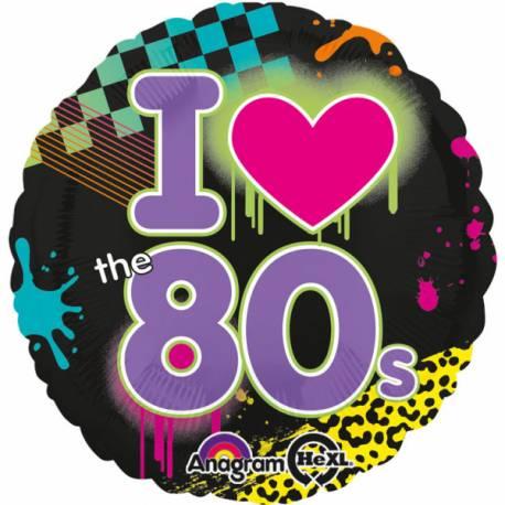 Ballon années 80 pour vos soirées sur le thème des années 80. Ballon en aluminium pouvant étre gonflé avec ou sans hélium à l'aide...