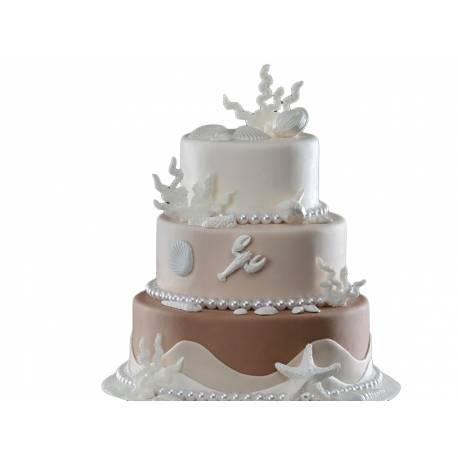 Lot 8 Coquillages en sucre blanc pour créer une belle décoration d'anniversaire à thème à votre enfant.Dimensions: voir image