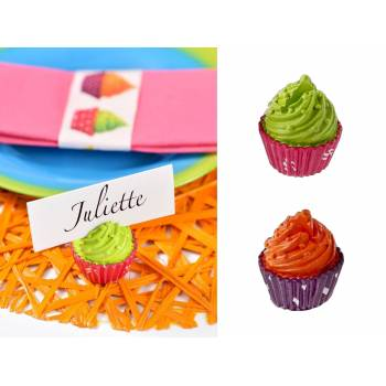 2 Marques place Cupcakes Orange/vert