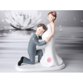 Figurine mariés maternité