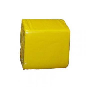 100 Mini Serviettes papier jaune
