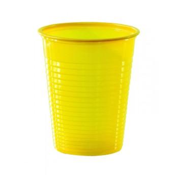 50 Gobelets en plastique eco jaune