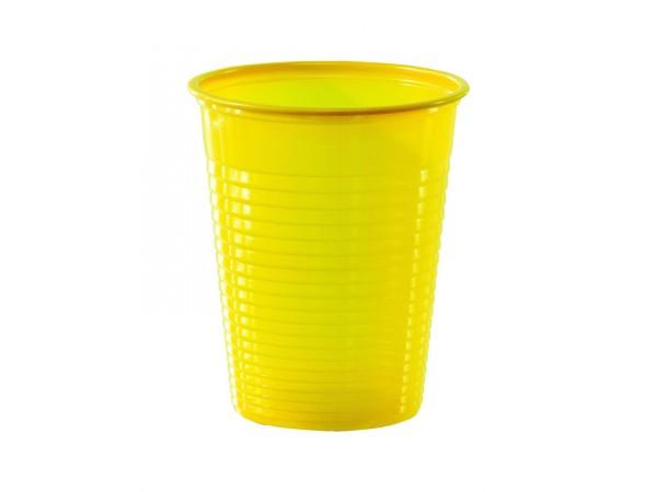 vaisselle jetable gobelets en plastique eco jaune. Black Bedroom Furniture Sets. Home Design Ideas