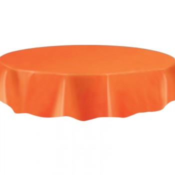 Nappe en plastique ronde orange