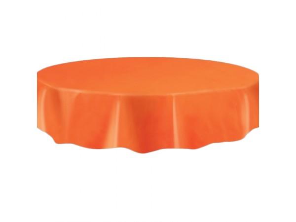 deco table halloween nappe ronde orange plastique. Black Bedroom Furniture Sets. Home Design Ideas