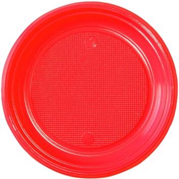 30 Assiettes plastique eco rouge