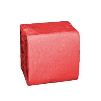 Serviettes cocktails jetables papier rouge