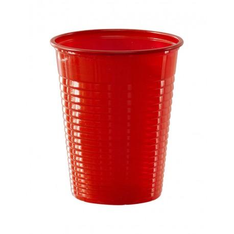 50 Gobelets plastique éco rouge pour la décoration de vos tables d'anniversaire. Grâce à eux plus de vaisselle à la fin de la fête!...