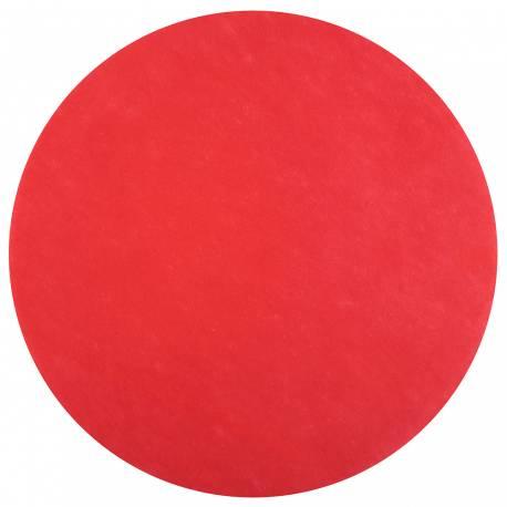 50 Sets de table rond intissé rouge Dimension : Ø 34 cm