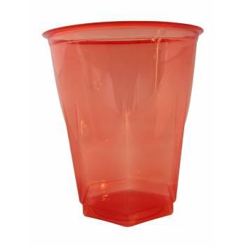 Gobelets plastique effet cristal rouge
