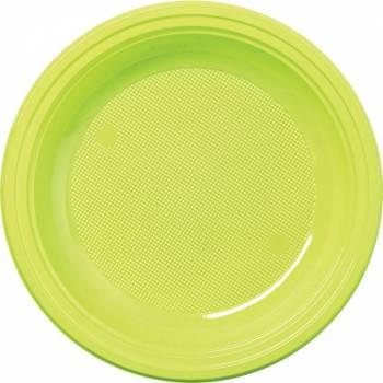 30 Assiettes plastique eco vert anis