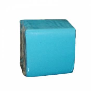 100 Mini Serviettes papier turquoise