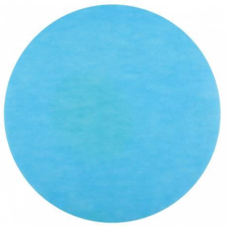 50 Sets de table rond intissé turquoise Dimension : Ø 34 cm
