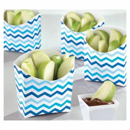 24 Mini box en carton façon boîte à frite idéal pour la présentation de gourmandises sucrées et salées de vos candy bar,...