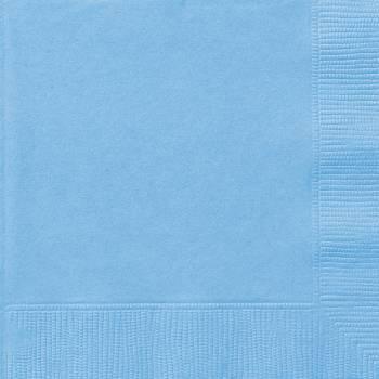 20 Serviettes papier bleu bébé