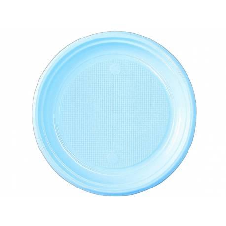 vaisselle jetable assiettes en plastique bleu pastel. Black Bedroom Furniture Sets. Home Design Ideas