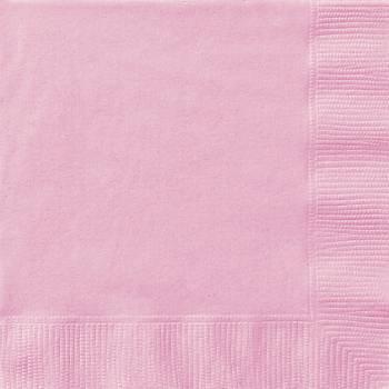 20 Serviettes papier rose
