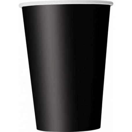 Paquet de 14 gobelets en carton noir Contenance: 20 cl