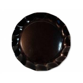 10 Assiettes corolle noir mat 21cm