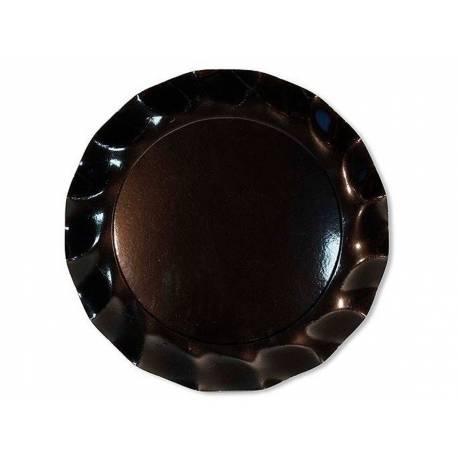 10 assiettes corolle noir mat 21cm thema deco. Black Bedroom Furniture Sets. Home Design Ideas