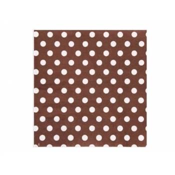 20 Serviettes à mini pois chocolat