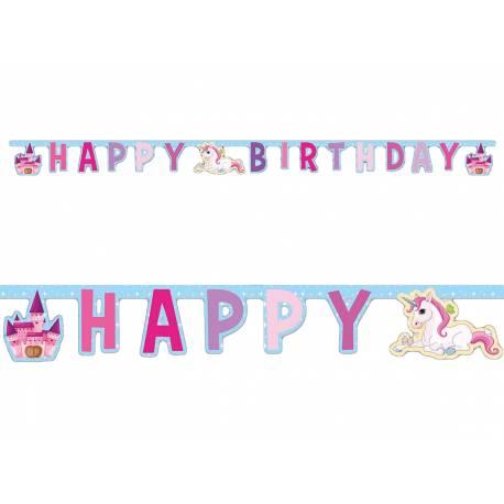Banderole anniversaire Licorne pour la décoration anniversaire de votre enfant.