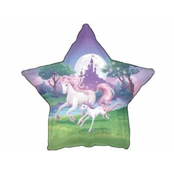 Ballon Hélium licorne étoile
