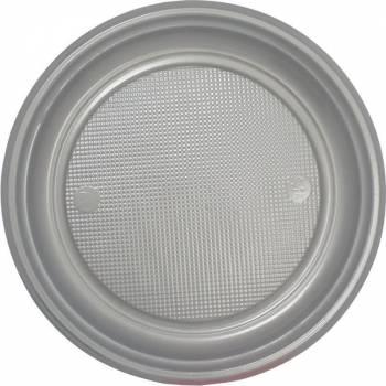 30 Assiettes plastique eco argent