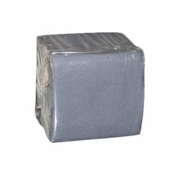 100 Mini Serviettes papier grise