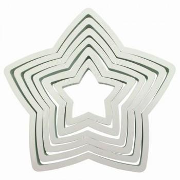 Set 6 emporte pièces étoiles PME