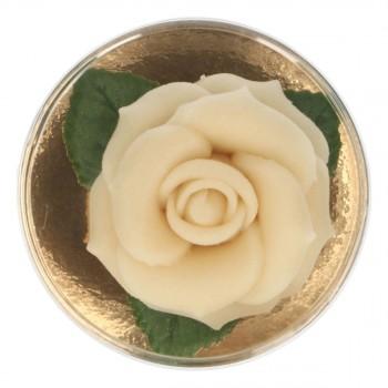 Rose en pâte d'amande blanche