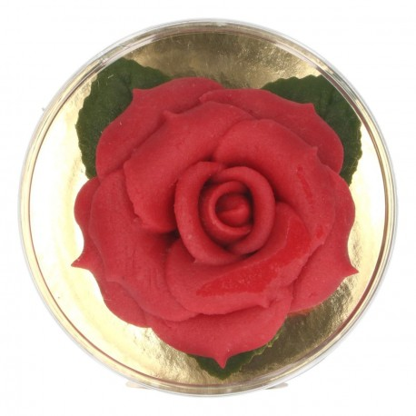 Rose en p te d 39 amande rouge thema deco - Deco pate d amande ...