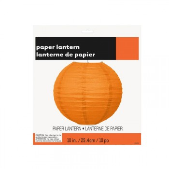 Lanterne en papier orange 25cm