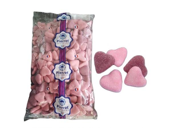 bonbons Coeurs guimauve rose/violet 1.5kg
