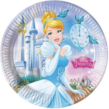 8 Assiettes Princesse Cendrillon