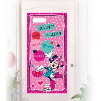 Décor de porte Minnie pois