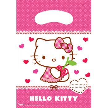 6 Sachets de fête Hello Kitty