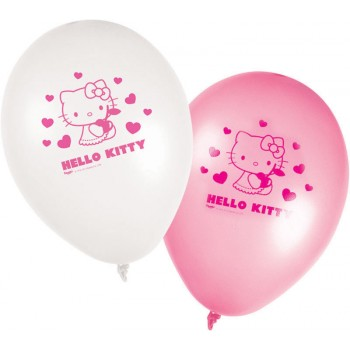 8 Ballons Hello Kitty