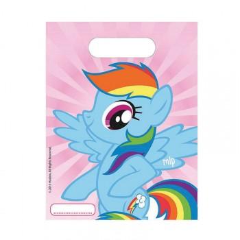 6 Sachets de fête Mon petit poney rainbow