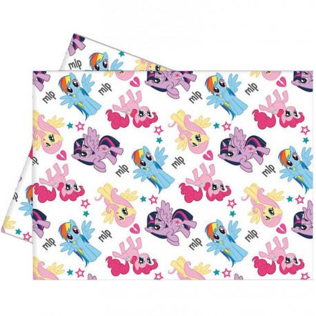 Nappeen plastiquepour anniversaire thèmeMon petit poney rainbow Dimensions: 120 cm x 180 cm