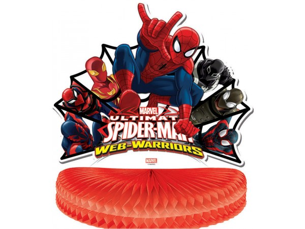 Centre de table spiderman web warriors deco anniversaire - Deco anniversaire spiderman ...